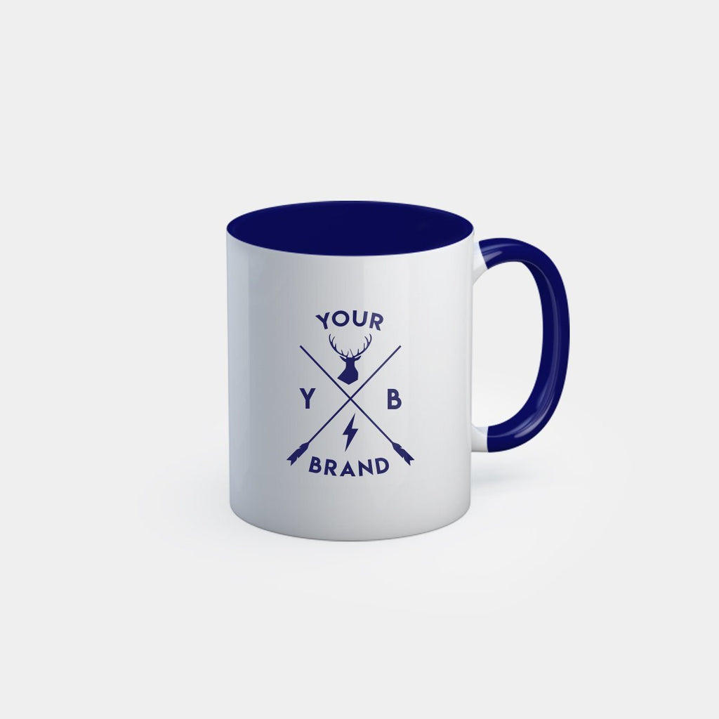 Dual Tone Mug with Dark Blue handle