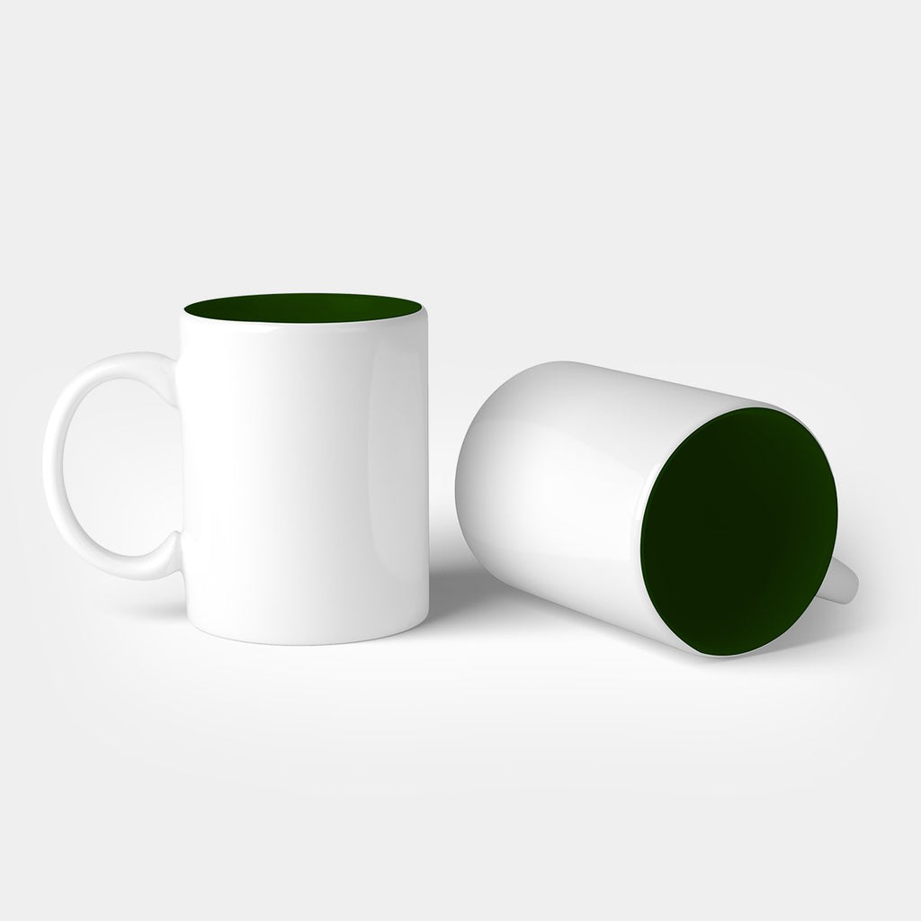 Dual Tone Mug with White Handle
