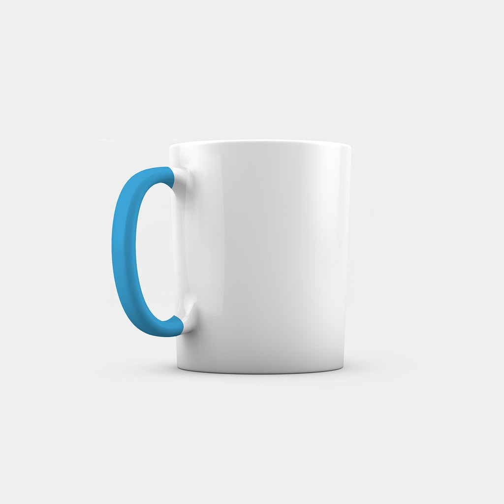 Dual Tone Mug with Colored handle