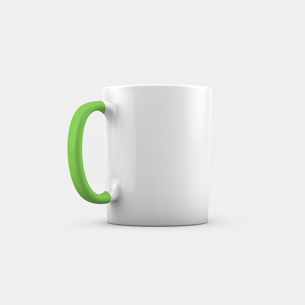 Dual Tone Mug with Light Green handle