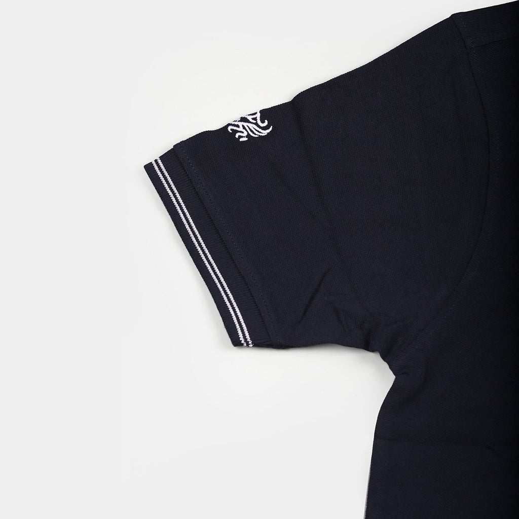 Flying Machine Polo T-shirts Navy Blue with White Tipping