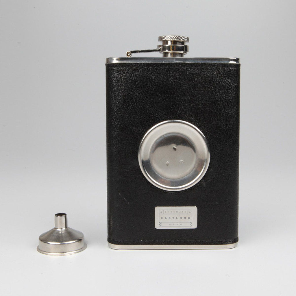 Hip Flask with Folding Glass