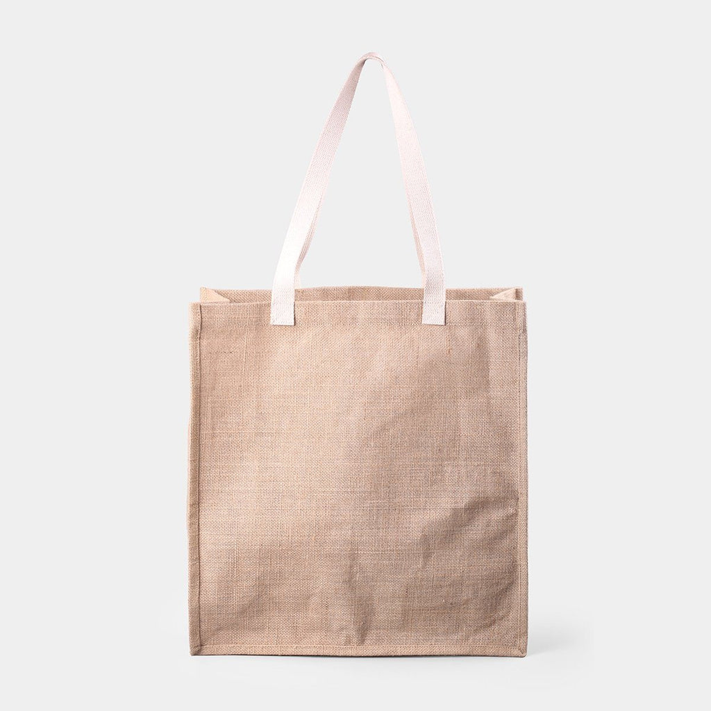Square Jute Carry Tote