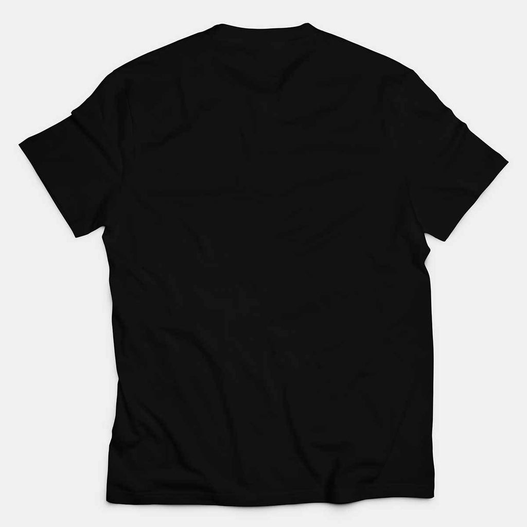 Poly Cotton Round Neck Black T-shirt