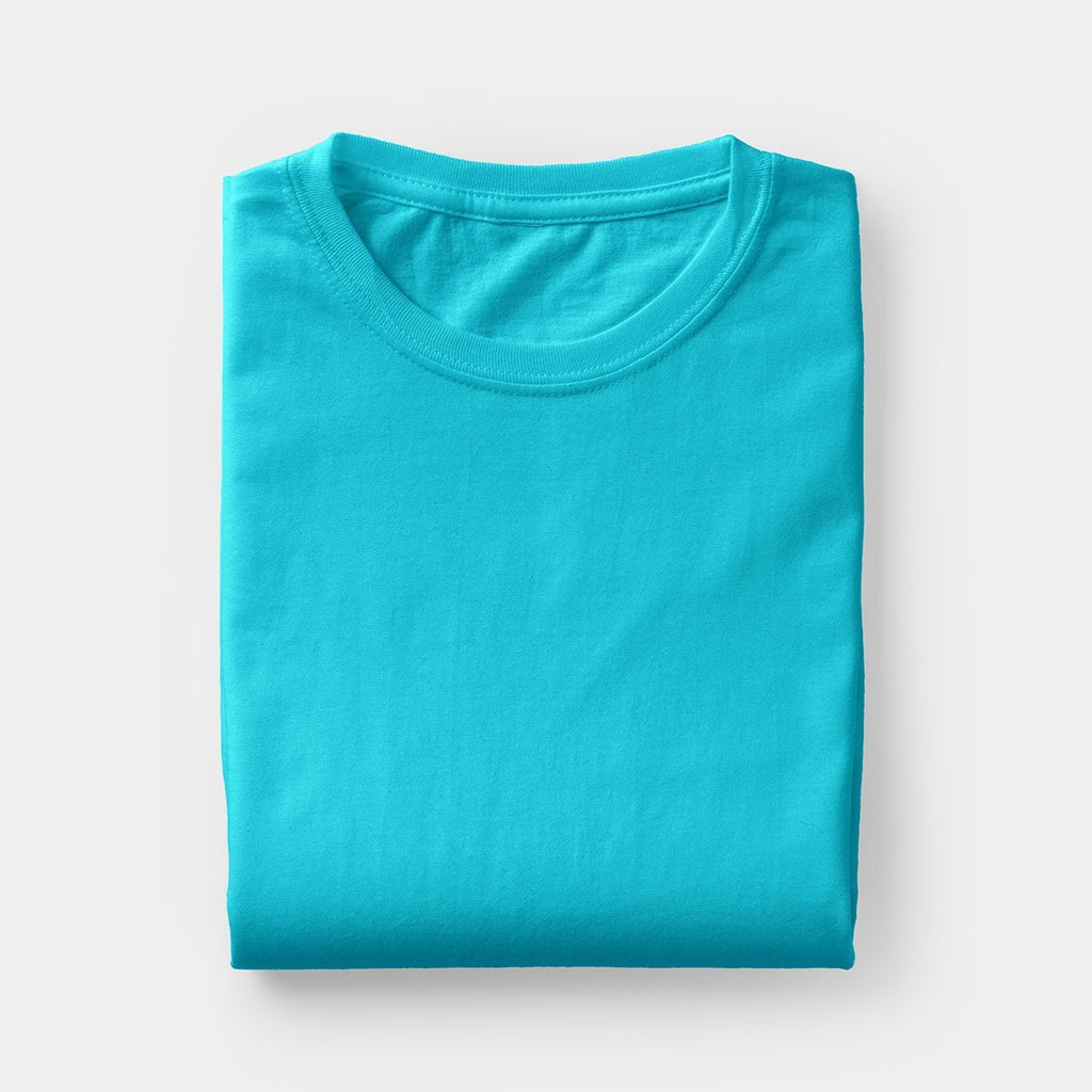 Poly Round Neck Blue