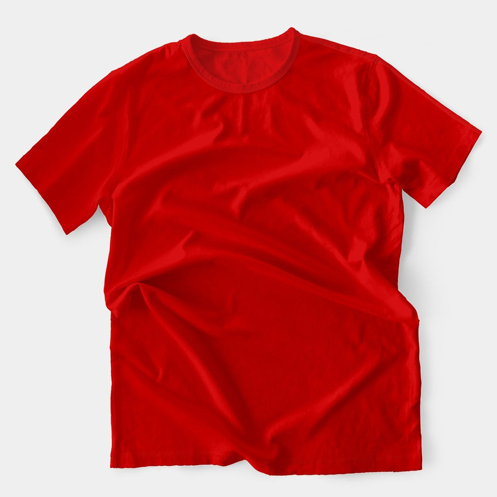 Round Neck Colored Red