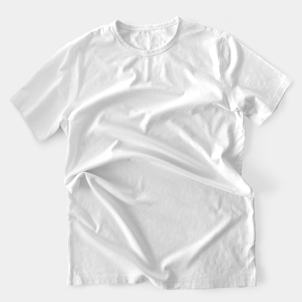 Poly Round Neck White T-Shirt