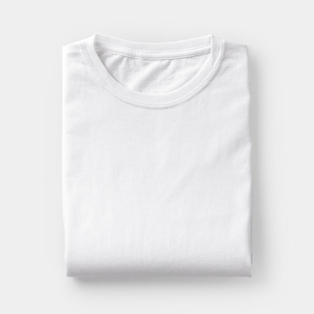 Polyester Round Neck T-Shirt White