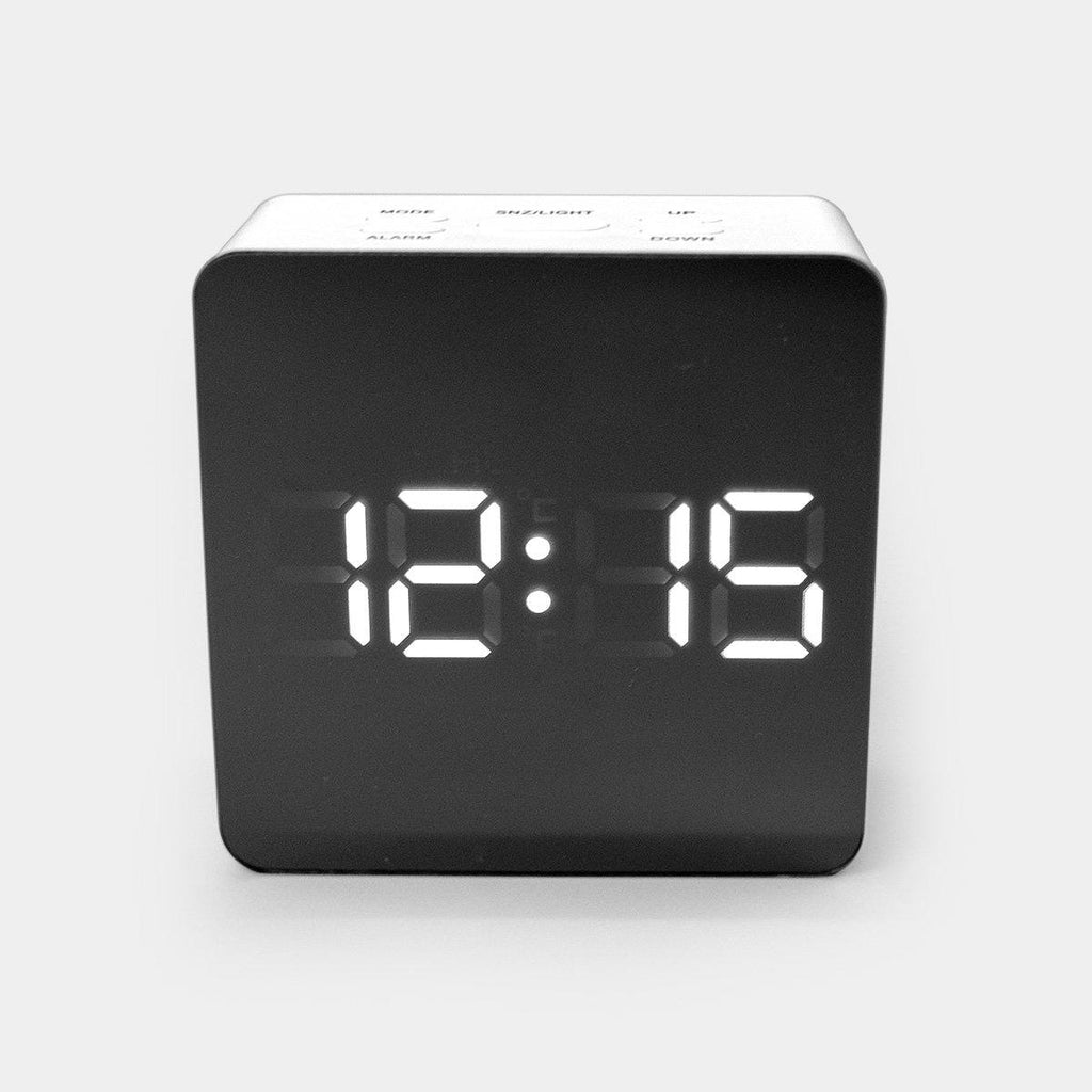 Square Shape Mirror Finish Digital Clock