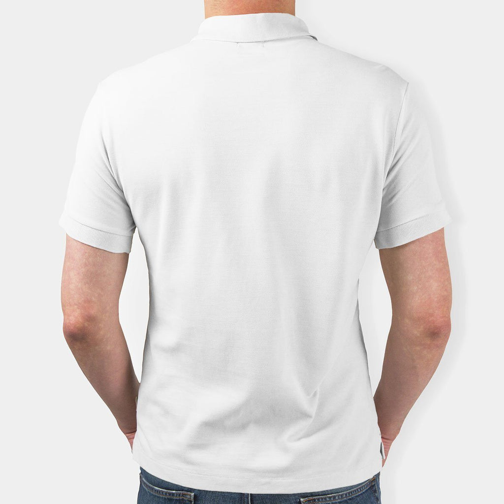 Polyester Polo Neck T-Shirt White