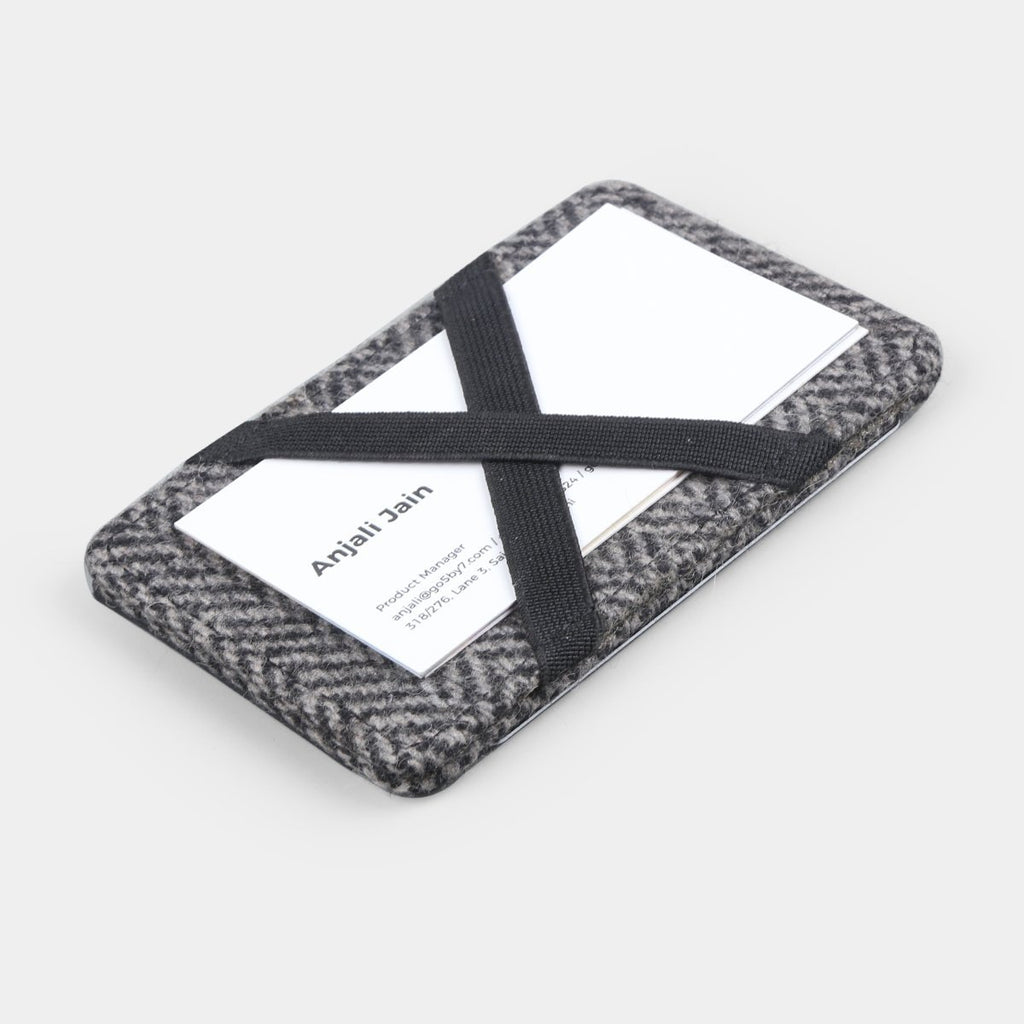 TWEED WALLET BLACK