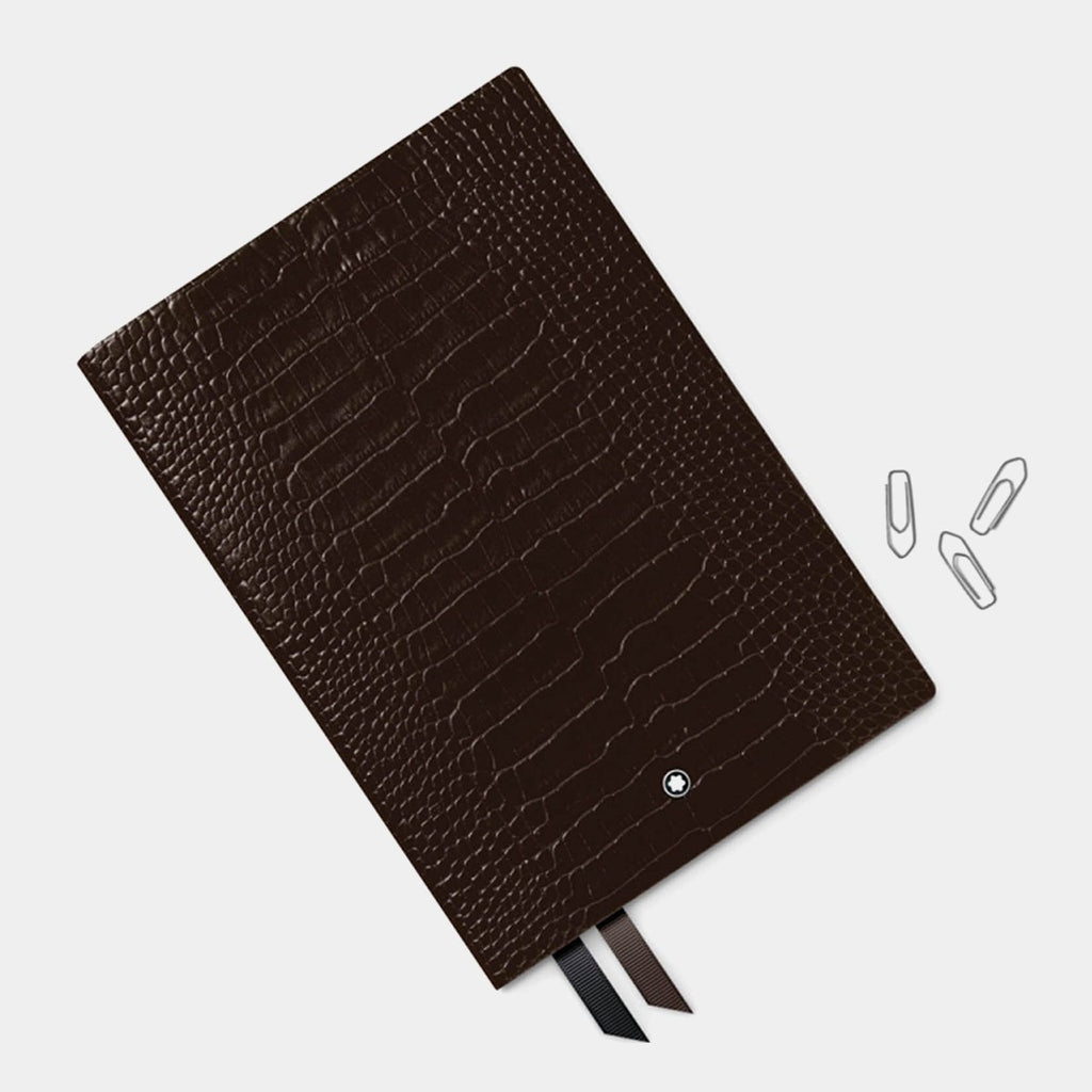Montblanc Fine Stationery Notebook, Croco Print, Dark Brown