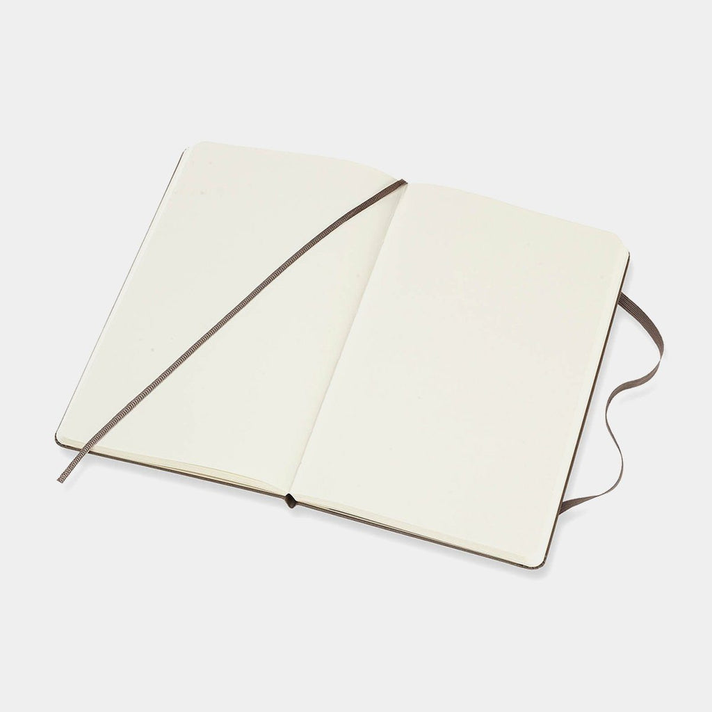 Plain Hard Cover Notebook Large, Brown