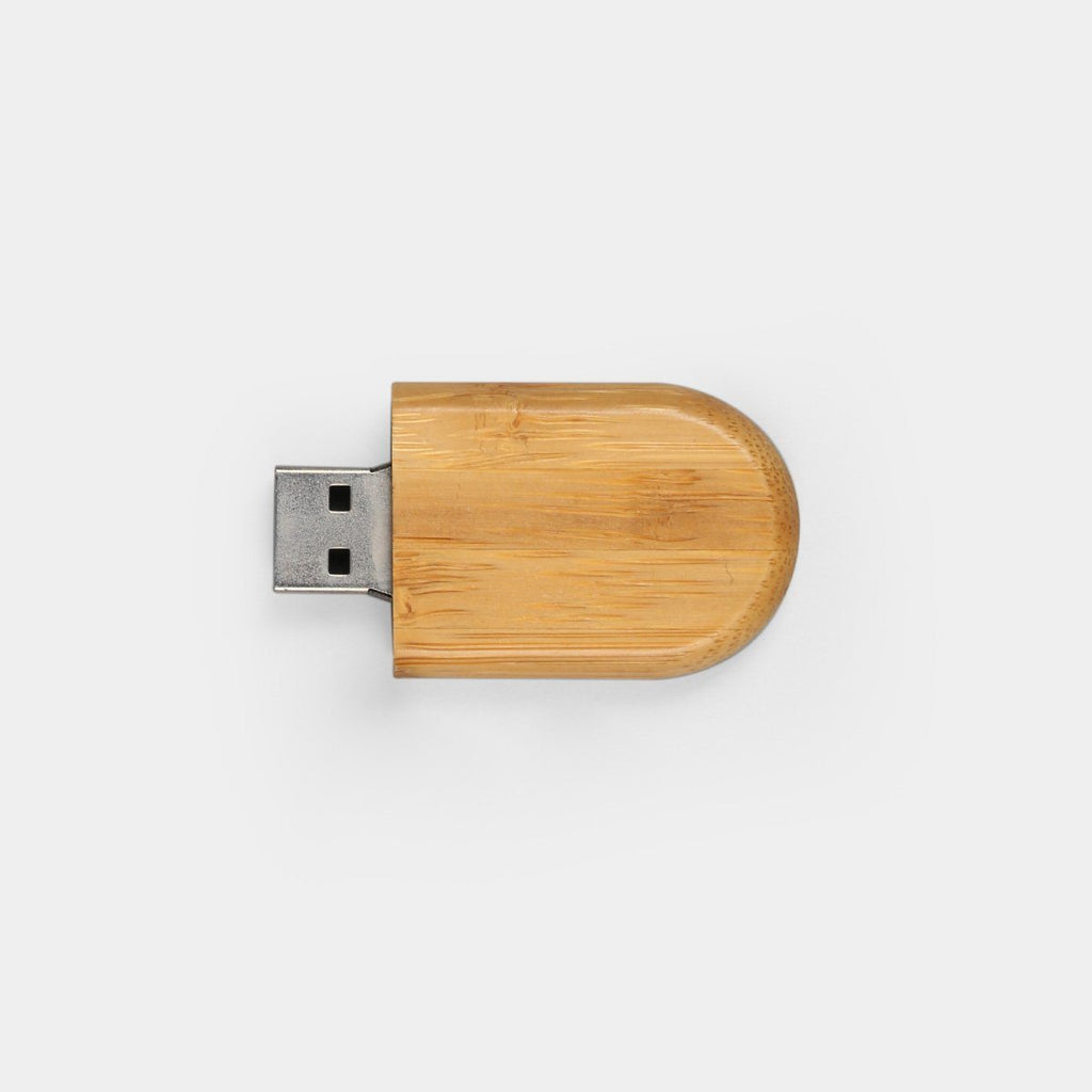 Wooden Oval Pen Drive