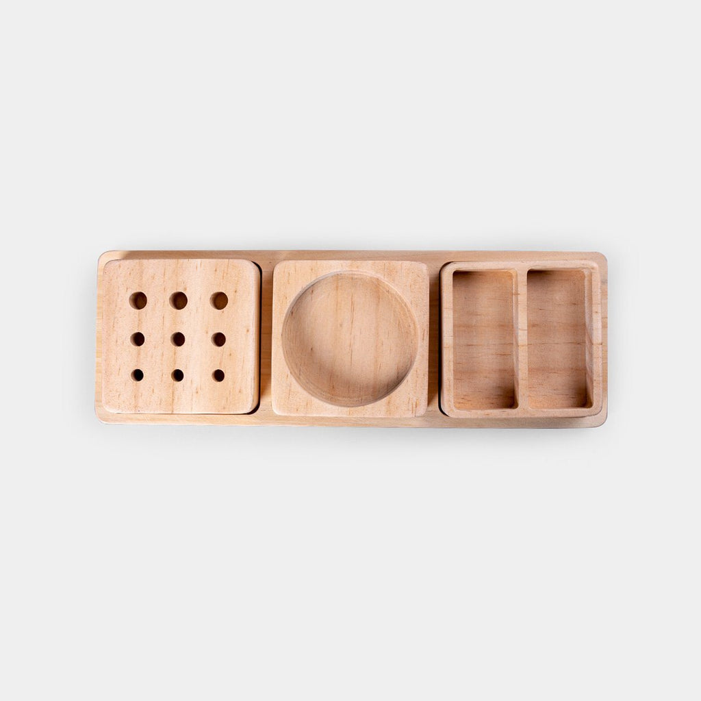 3 in 1 Wooden Organiser