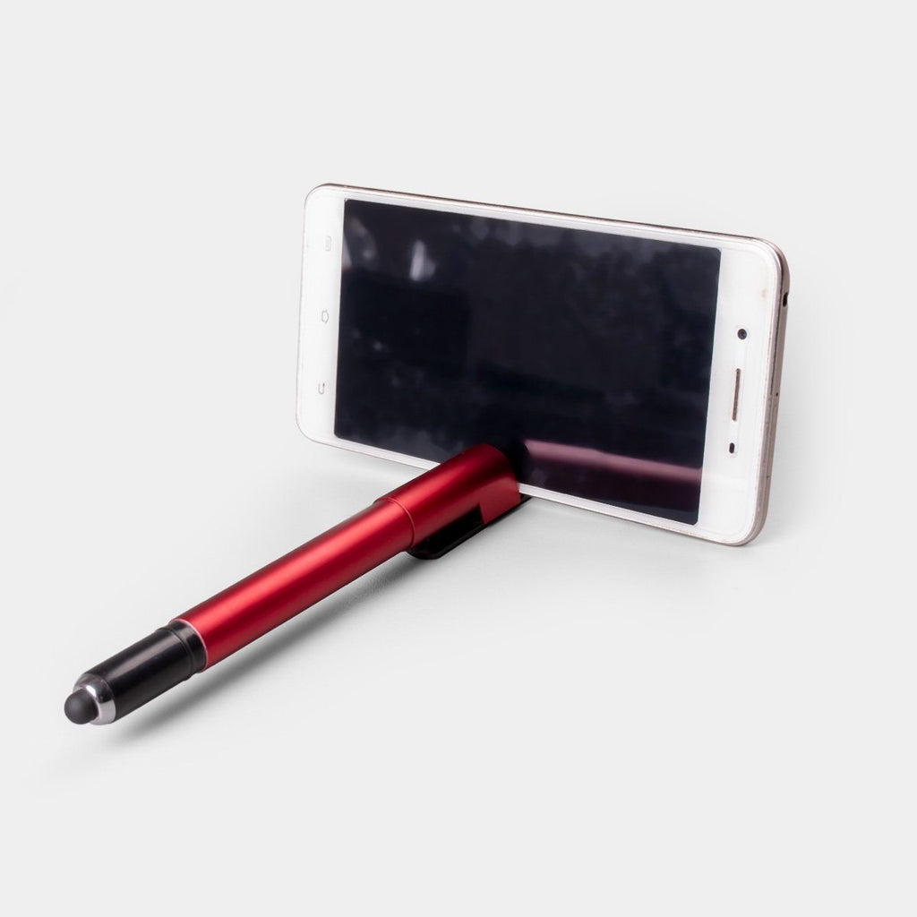 4 in 1 Pen with Logo highlight, stylus and mobile stand
