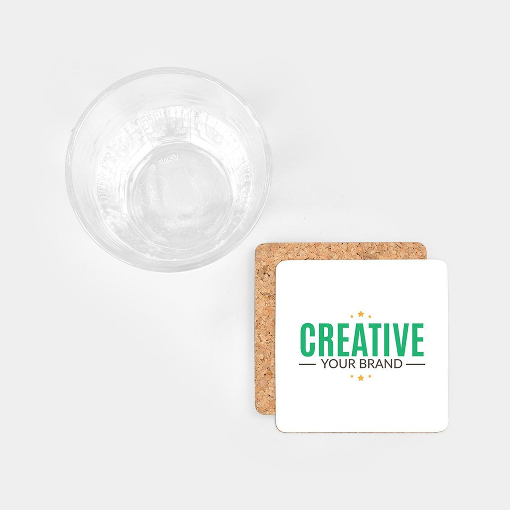 Square Cork Coasters (Set of 4)