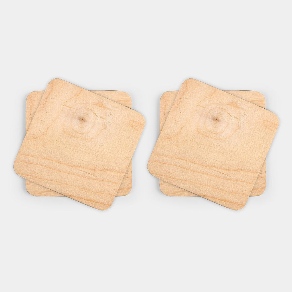 Set of 4 Wooden Coaster