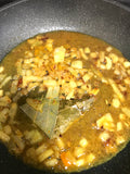 curry paste simmering