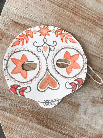 sugar skull masks inspired by Meri Meri plates