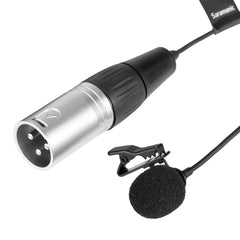 XLavMic-O Wired Phantom-Powered XLR Omnidirectional Lavalier Microphone with 6m Cable