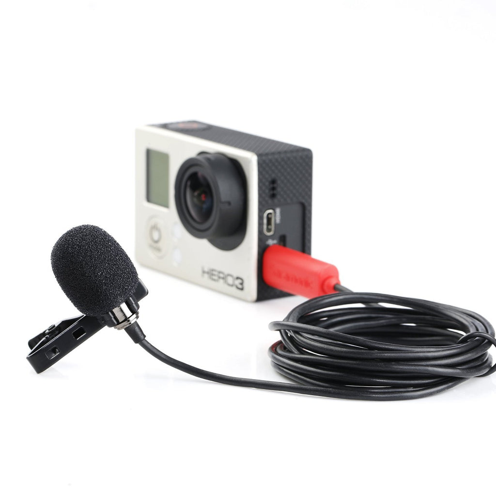 SR-GMX1 - Platinum Lavalier Clip-on Microphone with Lapel Clip, Foam and Furry Windscreens