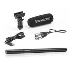 "SR-TM7 15.5"" Professional Supercardioid XLR Shotgun Condenser Microphone with Rechargeable Lithium-Ion Battery"