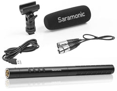 "SR-TM1 11"" Professional Directional XLR Shotgun Condenser Microphone with Rechargeable Lithium-Ion Battery"