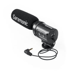 "SR-M3 On-Camera Shotgun Microphone with Headphone Output and 1/8"" (3.5mm) Mic Input for DSLR, Mirrorless & Video Cameras"