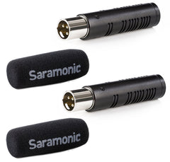 SR-AXM3 Compact XLR Cardioid Condenser Shotgun Microphones (2-Pack) for Portable Recorders, Mixers, Camcorders & Other Devices