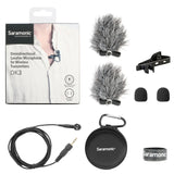 DK3B Premium 4mm Omnidirectional Lavalier Microphone for Sony UWP, UWP-D & WRT Wireless Transmitters with Locking 3.5mm Input