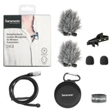 DK3C Premium 4mm Omnidirectional Lavalier Microphone for Audio-Technica UniPak Wireless Transmitters with 4-Pin Hirose Locking Connector