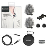 DK3E Premium 4mm Omnidirectional Lavalier Microphone for Shure, TOA, Line-6 & BeyerDynamic Wireless Transmitters with TA4F Locking Connector