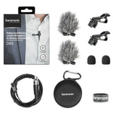 DK4F Professional Broadcast Omnidirectional Lavalier Microphone for AKG, Samson and Saramonic Wireless Transmitters with TA3F Locking Connector