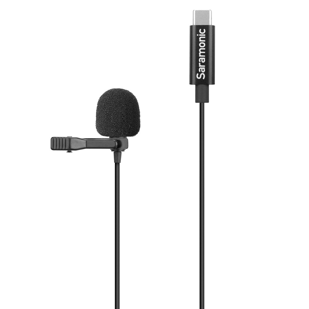 LavMicro U3-OA Compact Clip-On Omnidirectional Lavalier Microphone designed for DJI Osmo Action with 6.6' (2m) Cable & USB-C Connector