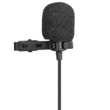 LavMicro-S Wired Clip-On Stereo Lavalier Microphone with Universal Compatibility with Cameras, Smartphones, Tablets, Recorders & More
