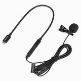 LavMicro U1A Ultracompact Clip-On Lavalier Microphone with Lightning Connector for Apple iPhone, or iPad with a Built-in 6.6' (2m) Cable