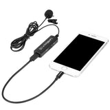 LavMicro+ DC Digital Lavalier Microphone with Lightning, USB-C & USB-A output for iPhone, iPad, Android Devices & Computers with Headphone Out & Level Control