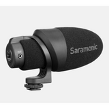 CamMic On-Camera Shotgun Microphone for DSLR, Mirrorless & Video Cameras or Smartphones & Tablets