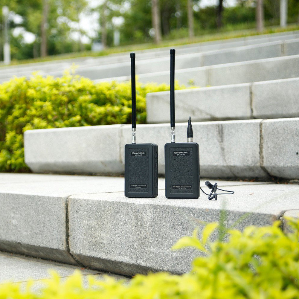 SR-WM4C - Wireless 4-Channel VHF Lavalier Omnidirectional Microphone System (200' Range)