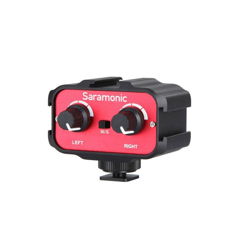 Audio For Video Cameras & Photo Saramonic Sr-ax100 Universal Audio Adapter Has 3.5mm Inputs For Dslr Cameras