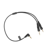 SR-C2004 Dual Locking 3.5mm to Single Right-Angled 3.5mm Output Y Cable for Wireless Receivers and more