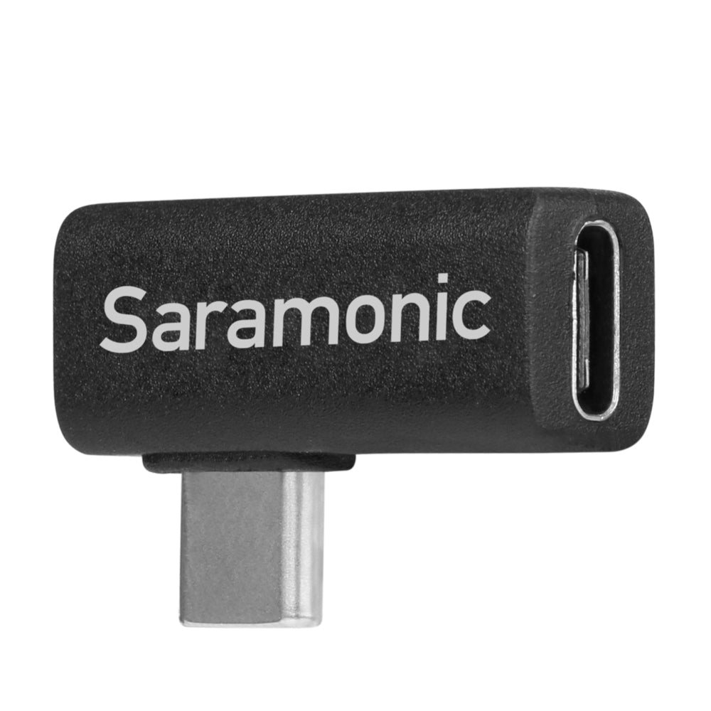 SR-C2005 Right-Angle USB-C Adapter, 90-Degree Male-to-Female Type-C Adapter Ideal for Devices in Gimbals & Tight Spaces