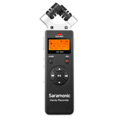 SR-Q2M Metal Handheld Audio Recorder with Stereo X/Y Condenser Mics, RC-X Remote, Wired Lavalier, 8GB MicroSD Card, Furry & Foam Windscreens, Case, & more