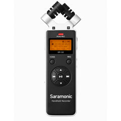 SR-Q2 Handheld Audio Recorder with Stereo X/Y Condenser Microphones, 8GB MicroSD Card, Furry & Foam Windscreens, Travel Case, & USB-C Cable