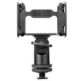 "SR-SMC10 Professional Universal Shock Mount for Shotgun Microphones 0.59-1.22"" (15-31mm) in diameter with Cold Shoe, 1/4""-20, 3/8"", & 5/8"" Mounting Options"