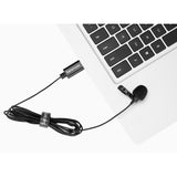 SR-ULM10L Ultracompact Clip-On Lavalier Microphone with USB-A Connector for Mac and Windows Computers with an extra-long 19.7-foot (6m) Cable