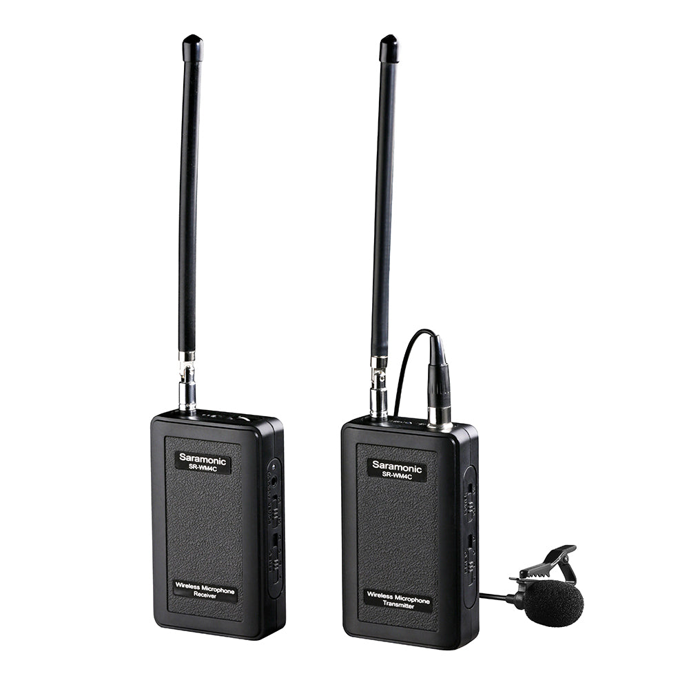 SR-WM4C VHF Wireless Lavalier Microphone System with Portable Camera-Mountable Receiver