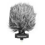 SmartMic-Di Stereo Microphone with Lightning Connector for Apple iPhone & iPad with Built-In Headphone Output, Foam & Furry Windscreens