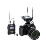 UwMic9S Kit 1 Advanced Wireless UHF Lavalier System with Dual-Channel Camera-Mount Receiver, Premium DK3A Lavalier, Li-Ion Power, Hard Case & More